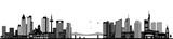 Frankfurt Skyline schwarz - 164942797