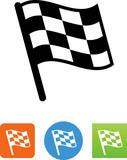 Checkered Flag Icon- Illustration - 164958565