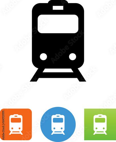 Fototapeta Commuter Train Icon - Illustration
