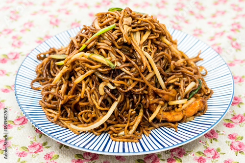 fried noodle asian food on the table