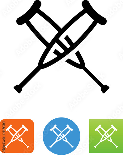 Crutches Icon - Illustration