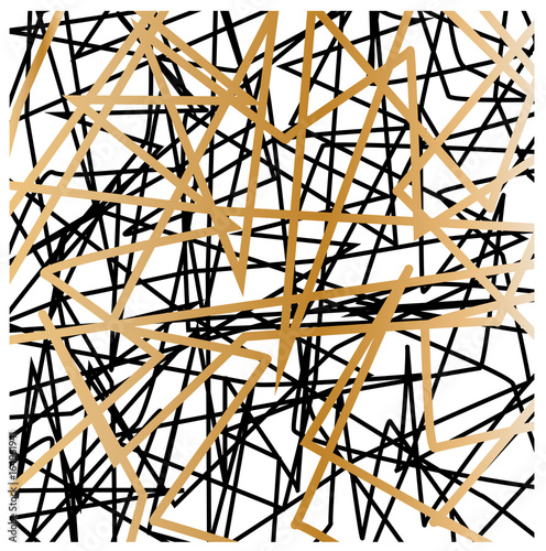 white-gold-black abstract pattern with lines