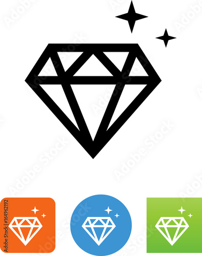 Ikona diamentu - ilustracja