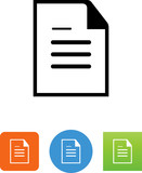 Document Icon - Illustration
