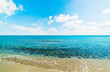 Quadro Blue sea and white clouds in Sardinia