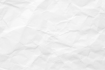 The texture of white paper is crumpled. Background for various purposes.