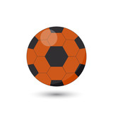 Soccer ball icon on white background. Vector Image