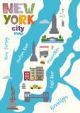 City map of Manhattan of New York city