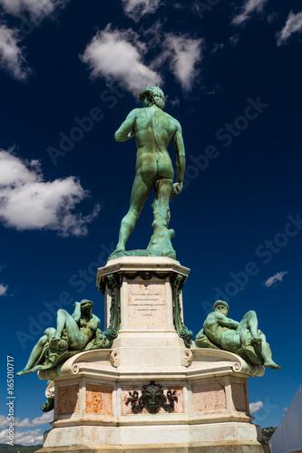 Bronze cast of Michelangelo David, Florence. Poster