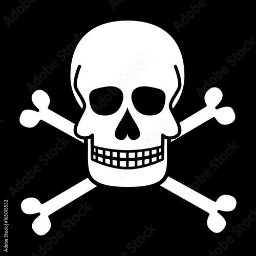 Skull And Crossbones Jolly Roger Pirate Symbols Vector