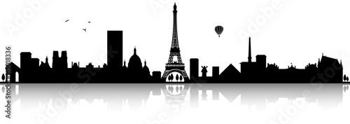 Paris Skyline Silhouette schwarz - 165018336