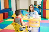 Fototapety Language therapist at a school