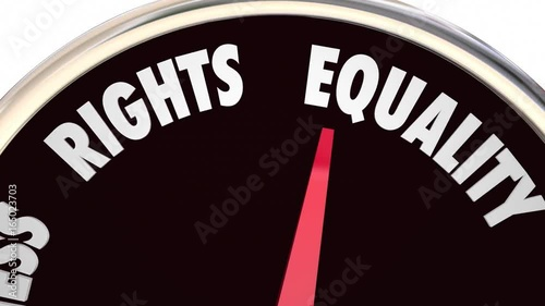 Social Justice Levels Equality Fairness Civil Rights 3d Animation