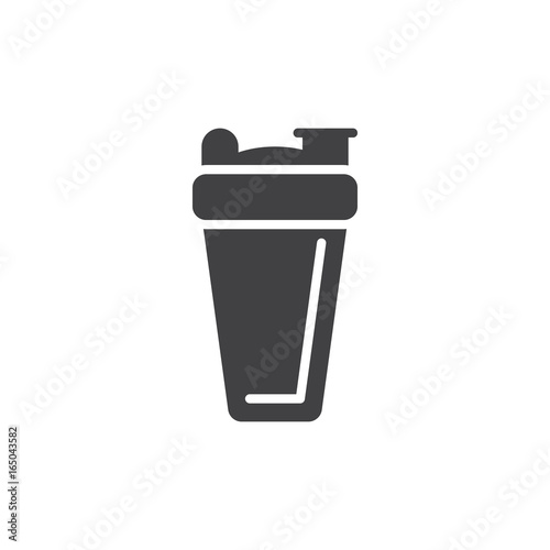 Sport shaker bottle icon vector, filled flat sign, solid pictogram isolated on white. Symbol, logo illustration. Pixel perfect vector graphics
