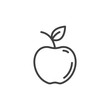 Apple line icon, outline vector sign, linear style pictogram isolated on white. Symbol, logo illustration. Editable stroke. Pixel perfect vector graphics