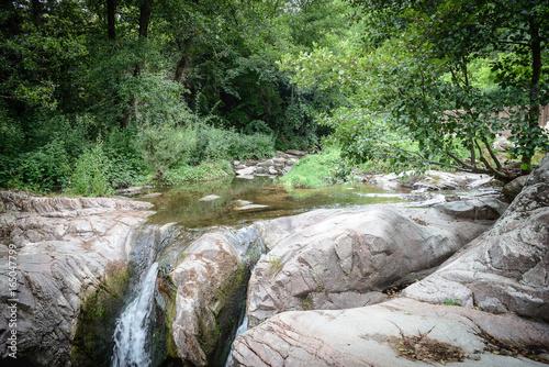 Paisaje de rio, Riera Major en San Sadurní de osormort, Les Guilleries, Cataluña