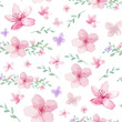 Flowers and leaves pattern - 165047901
