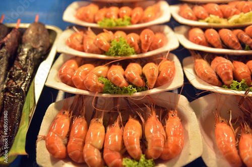 Shrimp on a plate