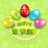 Happy Easter greeting background