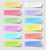 Colour sticky notes isolated on transparent background - 165070361