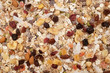 Muesli background - mixed fruit and nuts with cereal flakes - 165073357