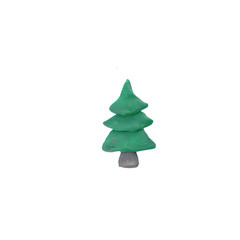 Plasticine  Christmas tree   sculpture isolated