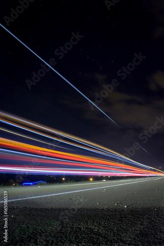 Foto op Aluminium Nacht snelweg Barandas 6