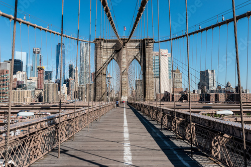 Foto op Aluminium Brooklyn Bridge Brooklyn bridge and Manhattan