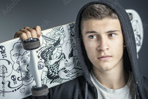 Foto op Aluminium Skateboard skateboarder portrait