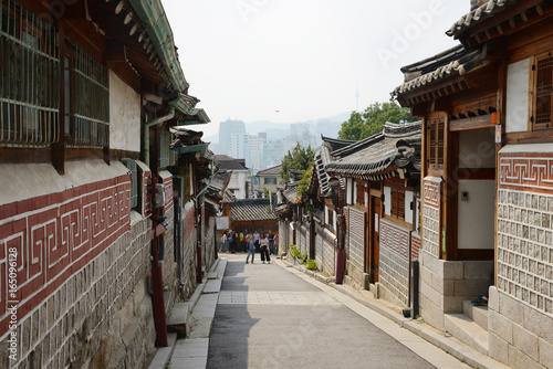 Deurstickers Seoel Korean Old town