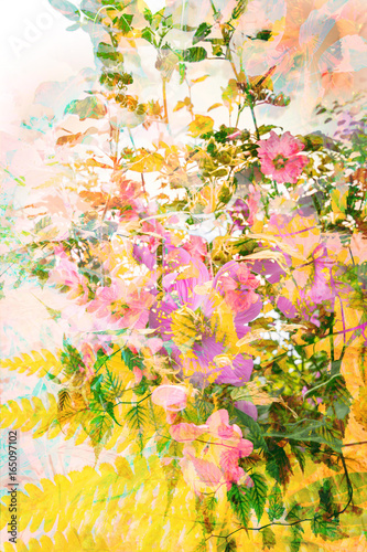 Beautiful, artistic, floral, Summer background - 165097102