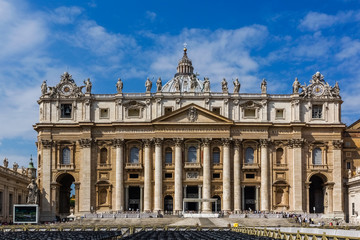 Saint Peter's Basilica in Vatican, Rome, Italy.