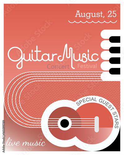 Guitar Music poster template design