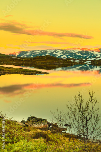 Staande foto Meloen Hardangervidda mountain plateau in Norway