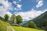 Autriche/paysage avec champs et sentier