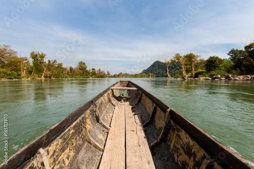 Fototapeta Khongyai beach irawaddy dolphins trip