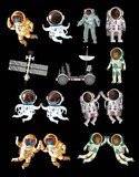space objects and astronauts pack collection - 165115319