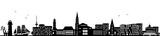 Kiel Skyline schwarz - 165120943