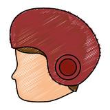 man with motorcycle helmet vector illustration design