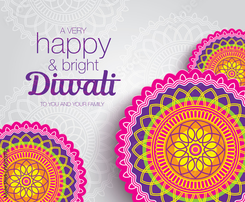 Diwali festival greeting card with colorful rangoli backgrounds diwali festival greeting card with colorful rangoli backgrounds m4hsunfo