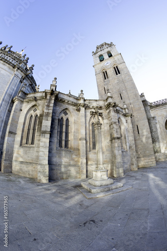 LUGO, SPAIN – OCTOBER 21: Romanesque Cathedral of Santa María de Lugo on October 21, 2016, in Lugo, Spain.