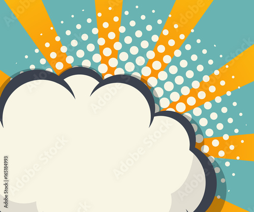 abstract blank speech bubble comic book background