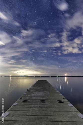Foto op Aluminium Pier Sylvan lake at night