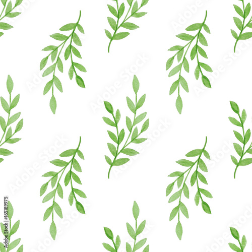 Pattern with green branch