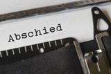 Abschied, Text Schreibmaschine - 165200904