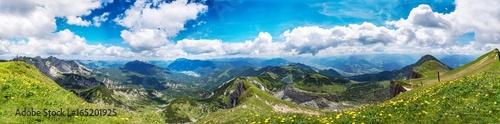 Fotobehang Panoramafoto s Berge Alpen Achensee Österreich