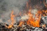 Burning garbage dump - 165206552