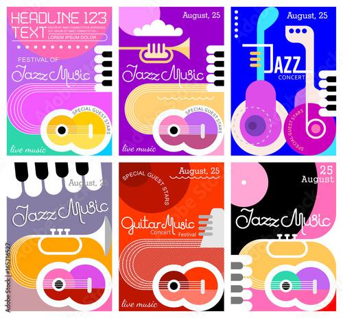 Foto op Canvas Abstractie Art Music Festival poster designs