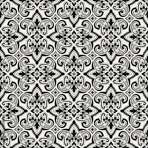 Boho Flower Pattern - 165217760