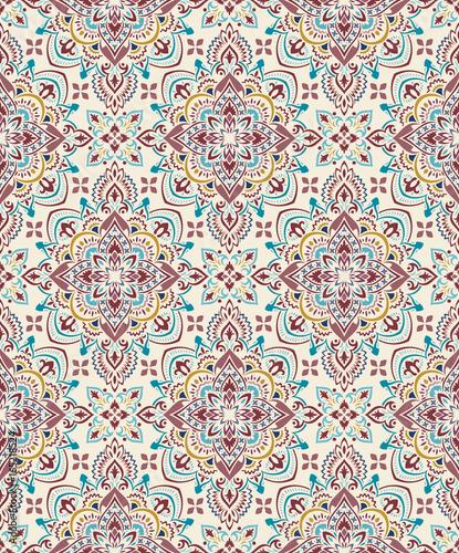 Boho Flower Pattern - 165218524